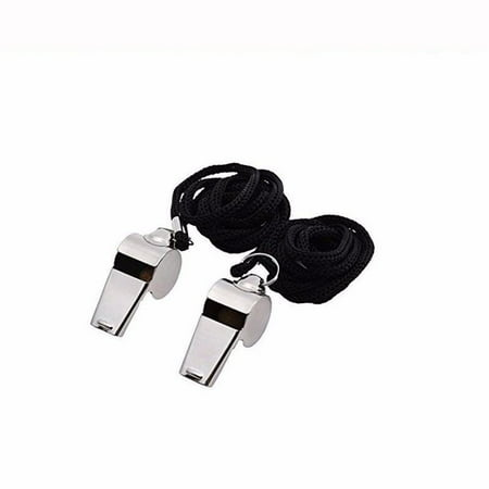 【JCXAGR】Metal Referee Coach Whistle Stainless Steel Extra Loud Whistle with Lanyard for School Sports Soccer Football Basketball