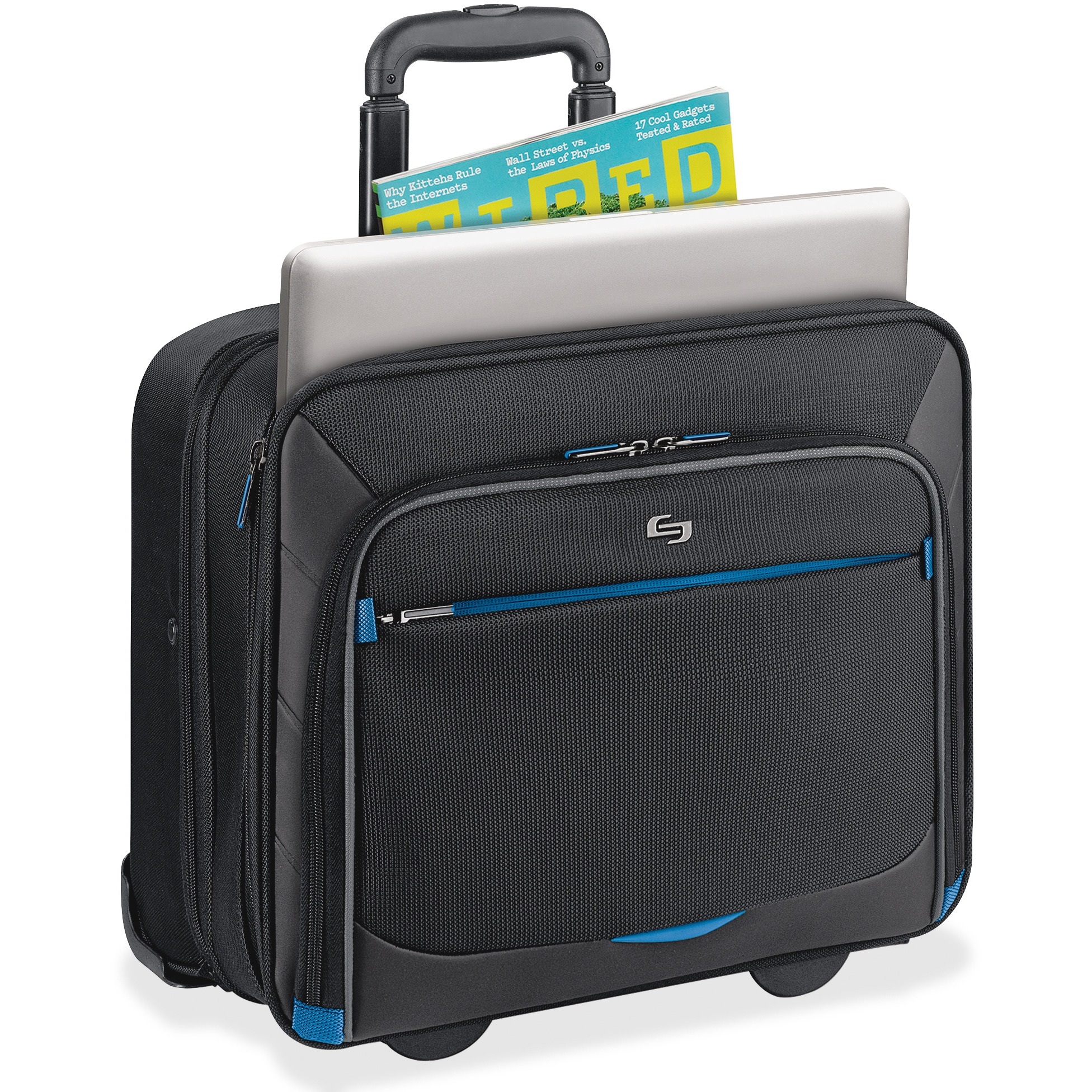 "SOLO Active 16"" Laptop Rolling Case, Overnighter Section"