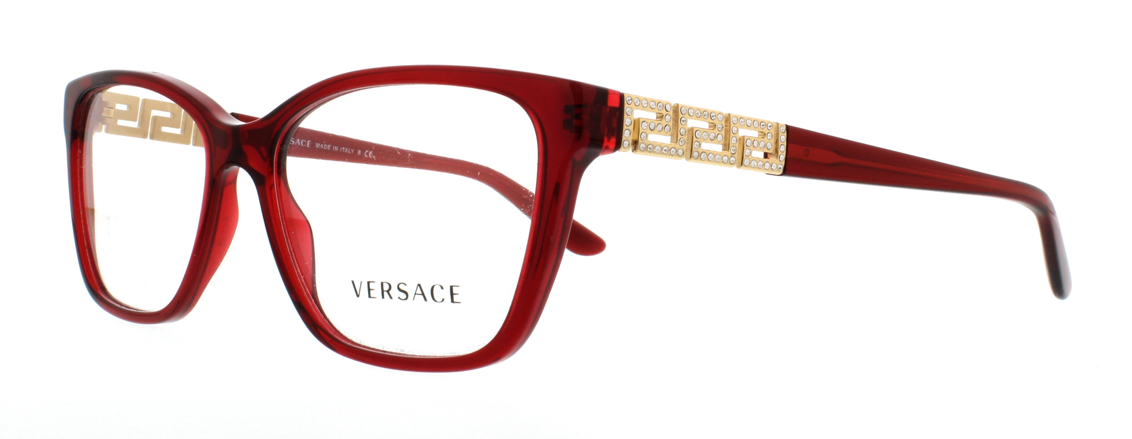 d401ddcaac19 VERSACE Eyeglasses VE 3192B 388 Transparent Red 54MM - Walmart.com