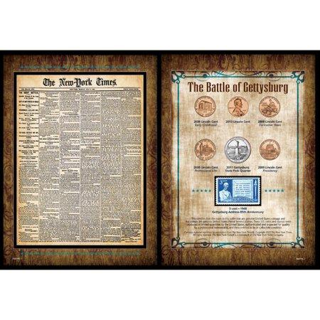 American Coin Treasures New York Times Battle of Gettysburg Wall Memorabilia