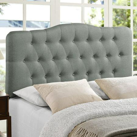 Annabel Full Upholstered Fabric Headboard Gray - Modway