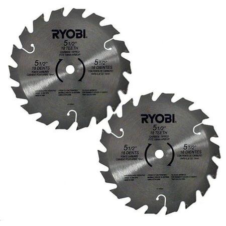 "Ryobi RY6202 2 Pack of Genuine OEM Replacement 5 1/2"" Circular Saw Blades # 6797329-2PK"