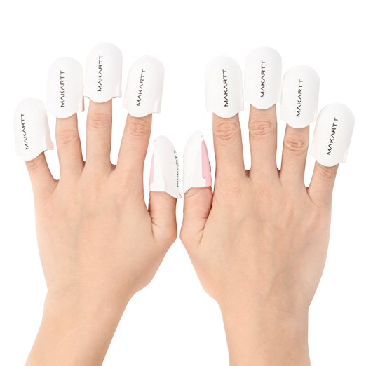 MAKARTT® 10Pcs/Set Easy Soak Off Finger Cap Clip UV Gel Polish Remover Wrap Nail Art Tools, Smartphone Touch Available
