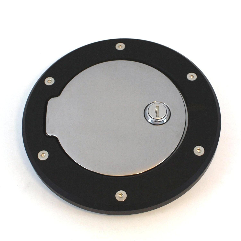 All Sales 6032GKCL Race Style Billet Fuel Door Fits 07-16 Wrangler (JK)
