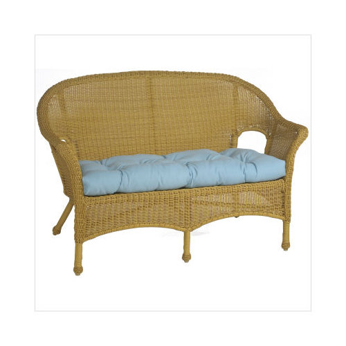 jeffco fibres wicker furniture loveseat settee cushion