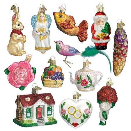 Old World Christmas Glass Twelve Piece Ornament Bride Gift Box Set ()