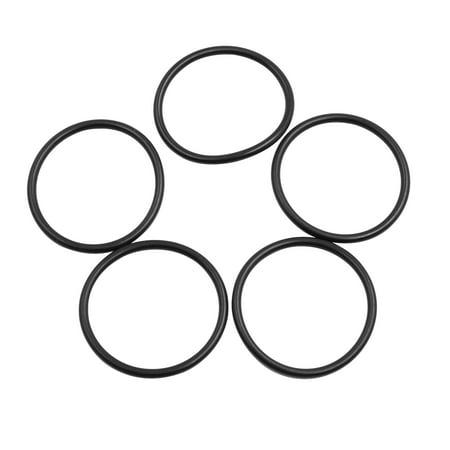 5pcs Black NBR70 O-Ring Washer Sealing Gasket for Car Vehicle 39 x 3mm - image 2 of 2