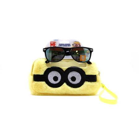 Despicable Me Fuzzy Case and Kid's Sunglasses (Big Yellow Sunglasses)