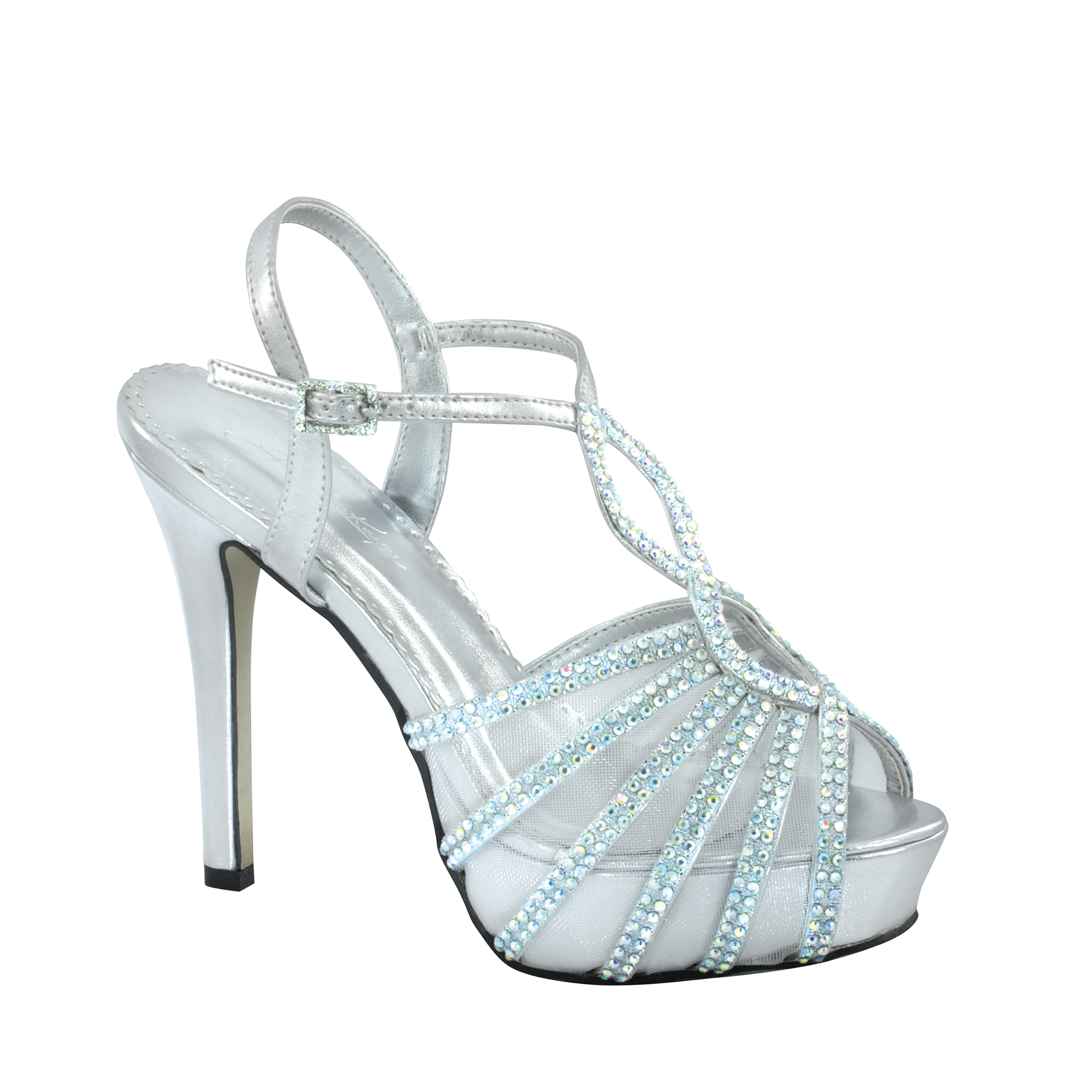 Johnathan Kayne Womens Glasgow Platform Sandal,Silver Metallic,6 M US