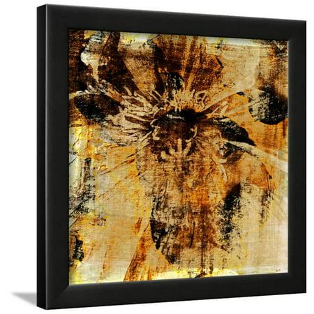 Poppy Gold III Framed Print Wall Art By Sia (Sia Art Jewelry)