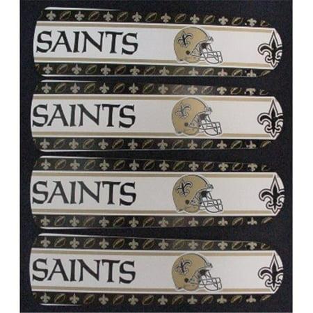Ceiling Fan Designers 42SET-NFL-NOS NFL Orleans Saints Football 42 In. Ceiling Fan Blades