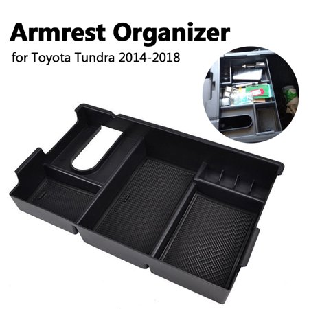 Car Armrest Storage Box Center Console Organizer Tray For Toyota Tundra 2014-18 - image 8 of 9