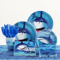 Shark Splash Birthday Party Supplies Kit, Serves 8 Guests