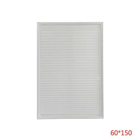 Self-Adhesie Pleated Blinds Half Blackout Windows Curtains Office Bathroom Kitchen Balcony Shades ()