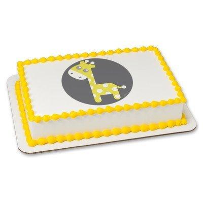 1/4 Sheet - Baby Giraffe Baby Shower - Edible Cake/Cupcake Party Topper!!!
