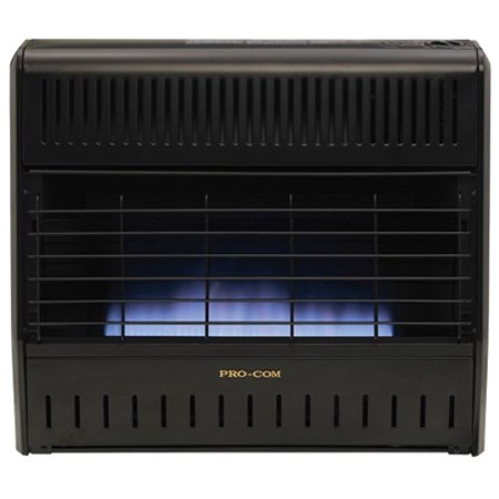 Procom Heating MNSD300TGA Blue Flame Garage Heater, Dual Fuel, Vent-Free, 30,000-BTU