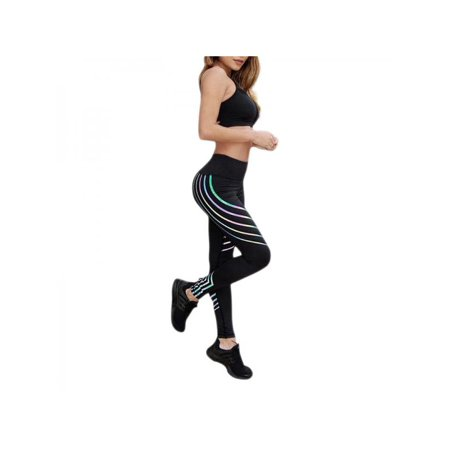 5b2ed2bb23249b VICOODA - VICOODA Women Waist Yoga Fitness Bright Night Leggings Running Gym  Stretch Sports Pants Trousers - Walmart.com