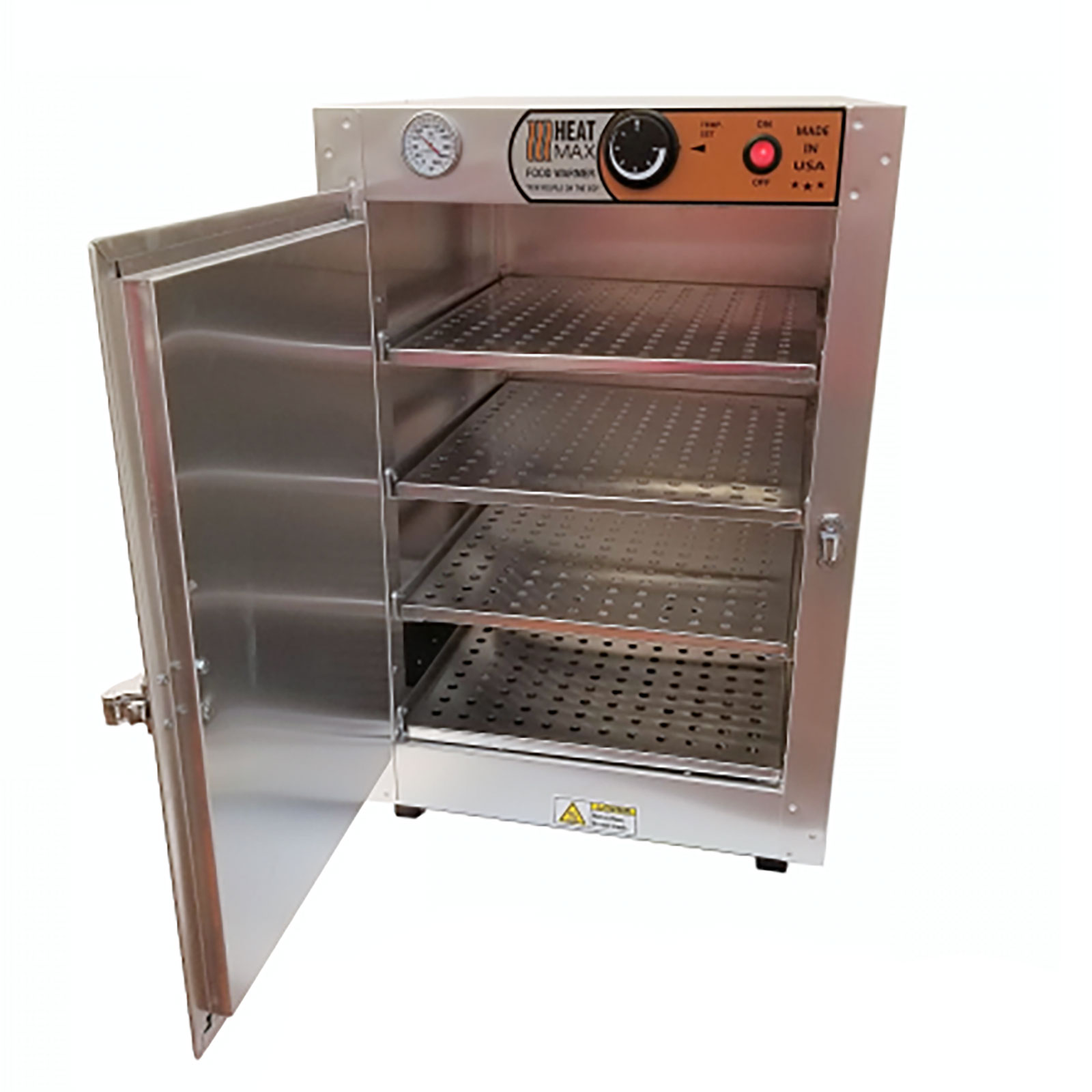 HeatMax Commercial Food Pastry Warming Case Aluminum 16x16x24 Hot Box  Cabinet