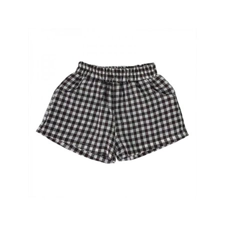 Lavaport Kid Boy Girl Unisex Plaid Cotton Linen Shorts Beach Pants