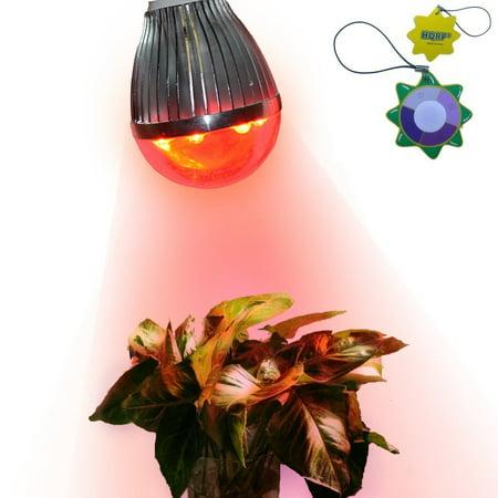 Hqrp New Bulb E26 Base Indoor Garden Led Spot Light For Flowering Stimulate 7 Red 660 Nm Led 7W 90V   260V   Uv Tester