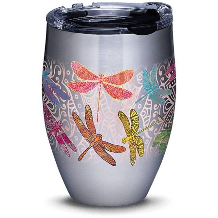 Tervis 12 oz. Stainless Steel Dragonfly Mandala Tumbler One Size Pink/green/blue/yellow