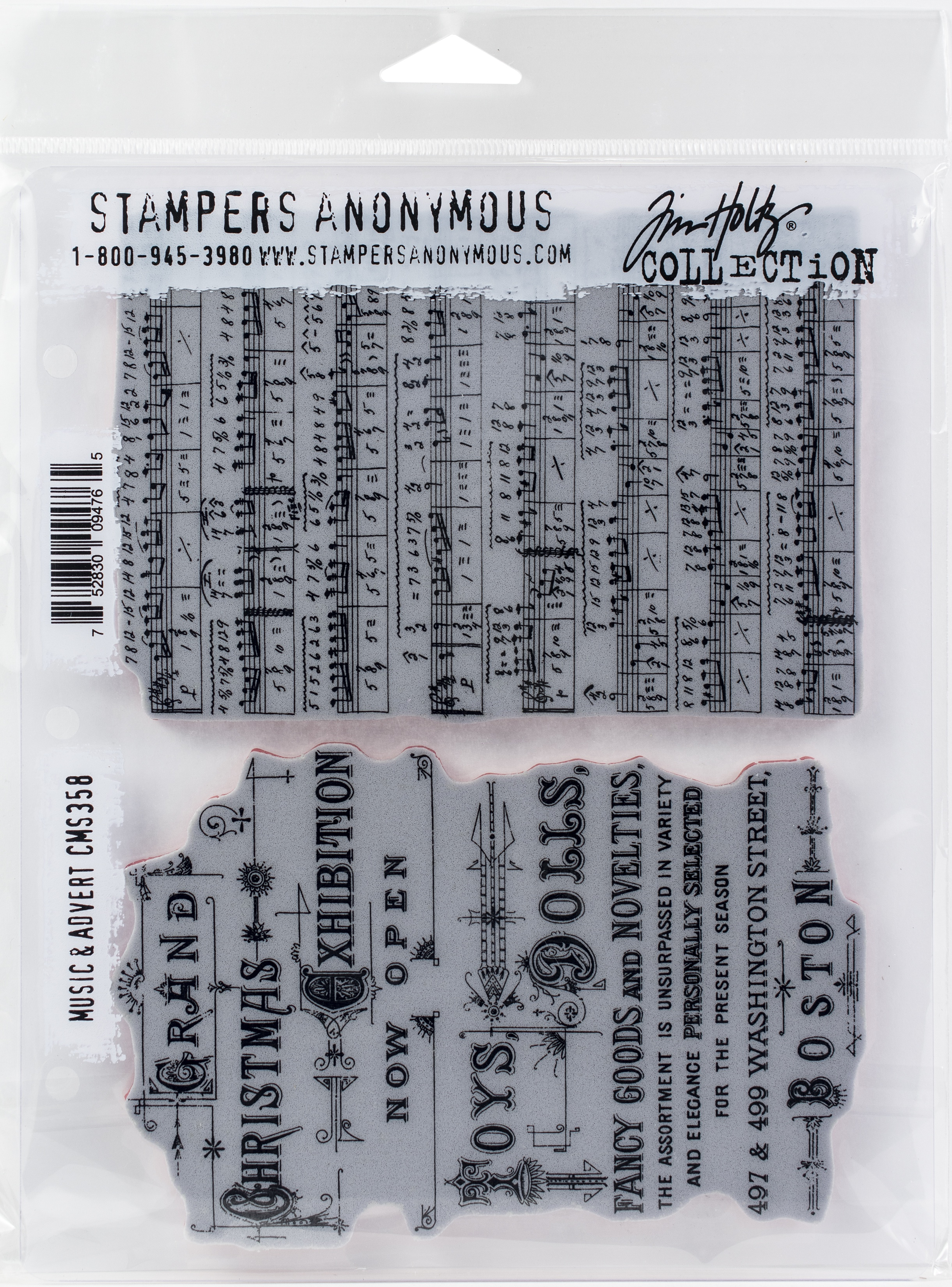 Music /& Advert Tim Holtz Stampers Anonymous Cling Stamps