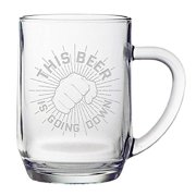 FiNeware This Beer Is Going Down Funny Beer Mug 20 ounce Etched Haworth Mug Gift for Men by Fineware