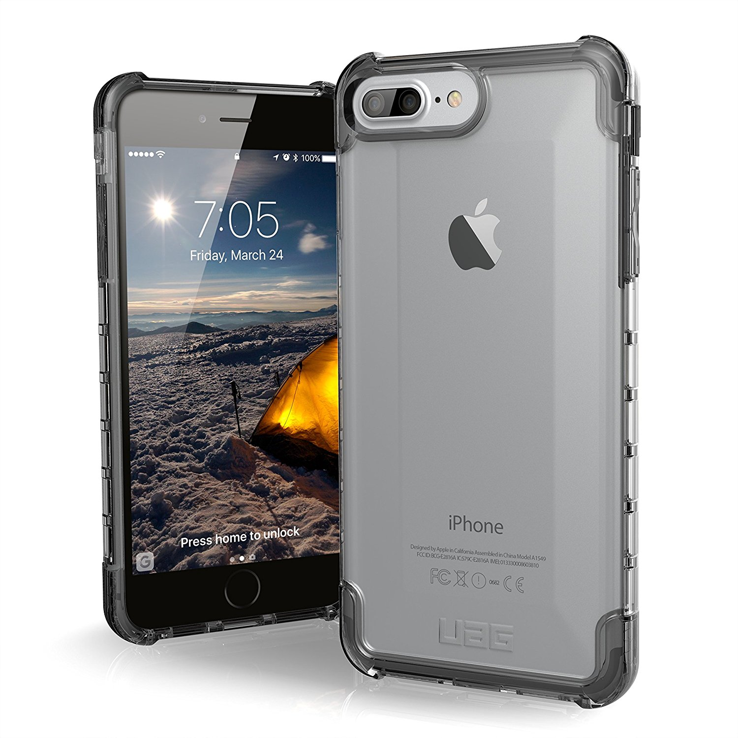 sports shoes 65295 5ba72 UAG iPhone 8 Plus / iPhone 7 Plus [5.5-inch screen] Plyo [ICE] Case ...