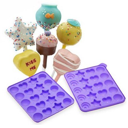 Assorted Shapes Silicone Cake Pop Mold (Color may Vary), Made of Durable and Food Grade Silicone. By NY CAKE](Halloween Cakepops)