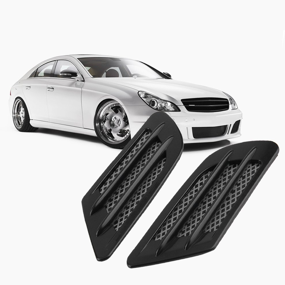 New Car Vent Hole Cover Fender Side Air Flow Intake Grille Decoration Stickers