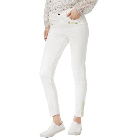 Cynthia Rowley Womens Denim Embroidered Skinny Jeans ()