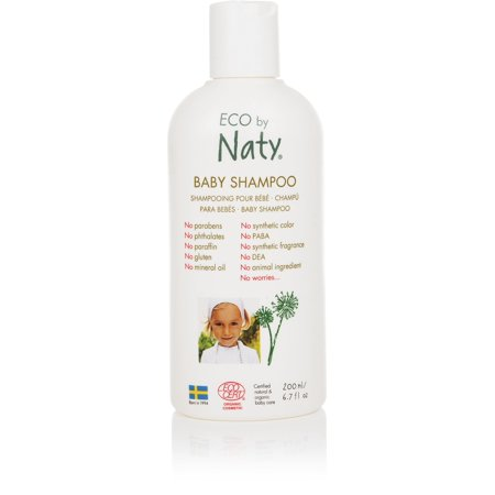 Eco by Naty Ecocert Certified Gentle Baby Shampoo for Sensitive Skin with Organic & Natural Ingredients - Free from Nasty Chemicals, 6.7 Fl. Ounce (Tear and Fragrance Free) Eco Nature Care Natural