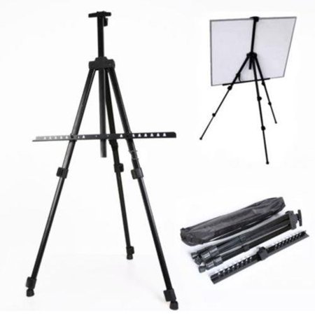 "Ktaxon Aluminum Folding Easel Artist Field Display Presentation Exhibition Picture Holder Adjustable 63"" Tripod Stand Lightweight with Carry Bag for Outdoor Floor Tabletop Drawing Painting Sketching"