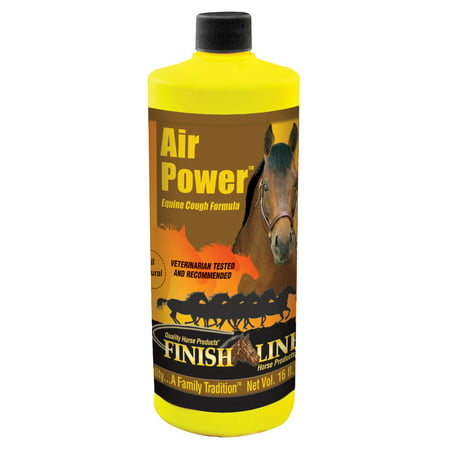 Finish Line Air Power Natural Horse Cough Syrup  16 Oz