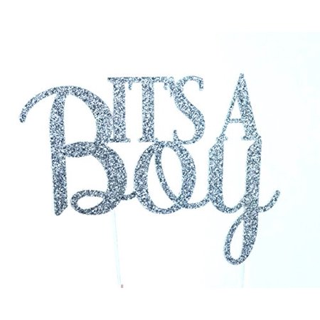 Handmade Baby Boy Shower Cake Topper Decoration - It's a Boy - Made in USA with Double Sided Glitter Stock - Usc Decorations