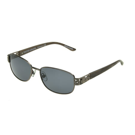 Foster Grant Women's Brown Oval Sunglasses K03 ()
