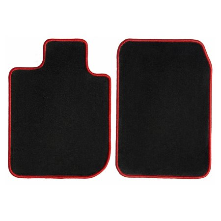 GGBAILEY Chevrolet Silverado 1500 (Crew Cab) Black with Red Edging Carpet Car Mats / Floor Mats, Custom Fit for 2015, 2016, 2017, 2018, 2019 - Driver & Passenger