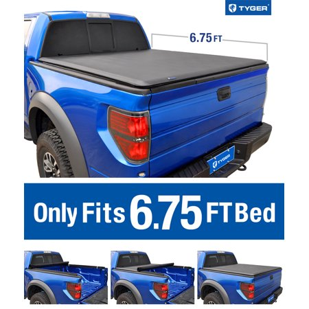 1996 Ford F-250 Bed - Tyger Auto T1 Roll Up Truck Bed Tonneau Cover TG-BC1F9027 works with 1999-2016 Ford F-250 F-350 F-450 Super Duty | Styleside 6.75' Bed