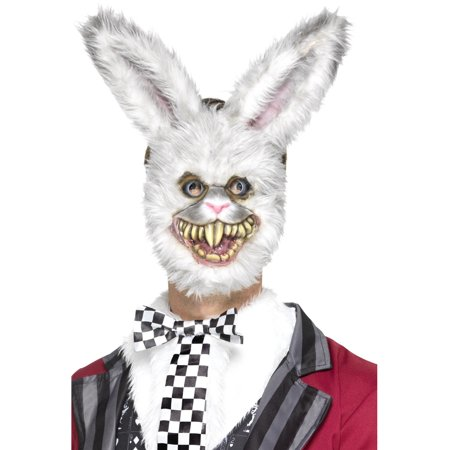 Bloodthirsty Savage Bunny Rabbit Crazy Farm Animal Mask Costume Accessory - Rabbit Half Mask