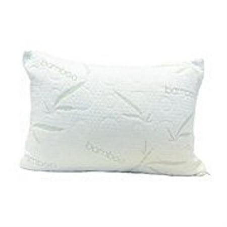 Aloe Vera Memory Foam Pillow - Hypoallergenic & Dust Mite Resistant- Firm (Island Getaway Bamboo And Aloe Vera Pillow)