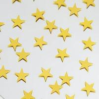 300 PCS Gold Twinkling Metallic Foil Star Confetti Set of 6