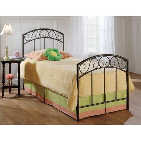 Hawthorne Collections Twin Spindle Bed in Copper (Wendell Copper Pebble)