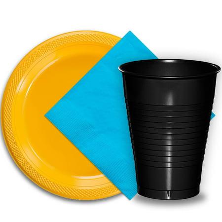 50 Yellow Plastic Plates (9