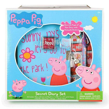 Nickelodeon Peppa Pig Secret Diary Set with Lock and Key for Girls - Peppa Pig Set