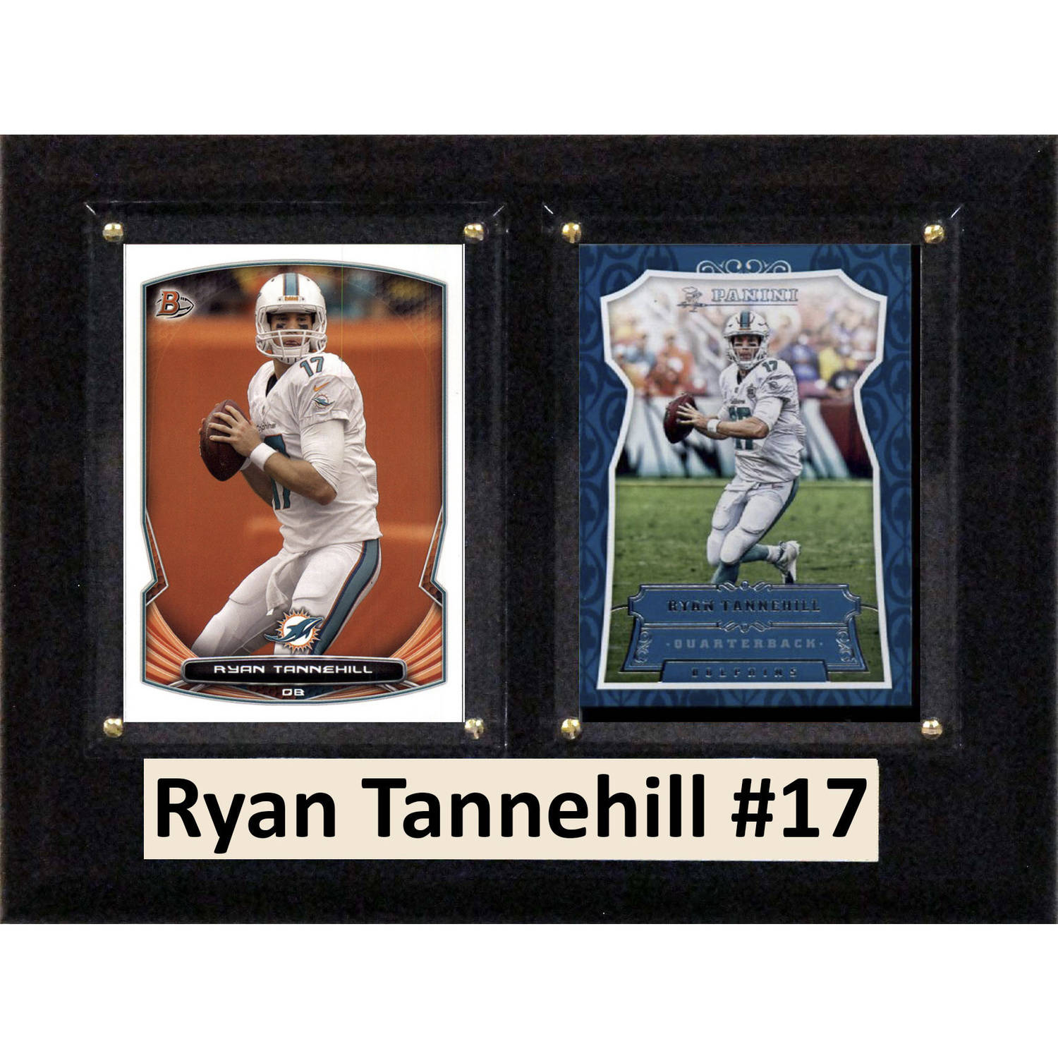 "C & I Collectables NFL 6"" x 8"" Ryan Tannehill Miami Dolphins Two-Card Plaque"