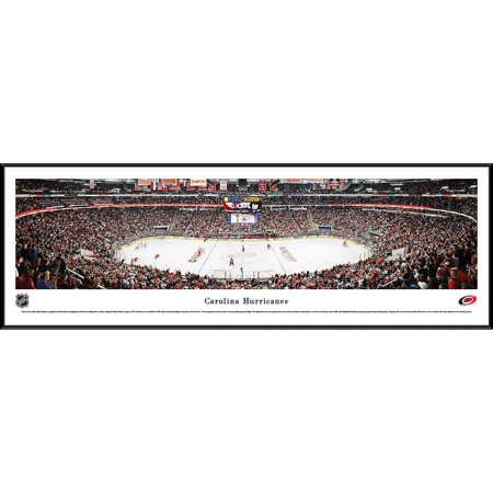 Carolina Hurricanes Center Ice at PNC Arena Blakeway Panoramas NHL Print with Standard Frame by