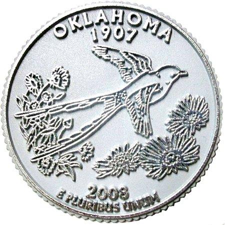 Oklahoma State Quarter Fridge Magnet