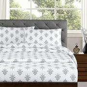 Echelon Home Arwen 250 Thread Count Cotton Percale Sheet Set