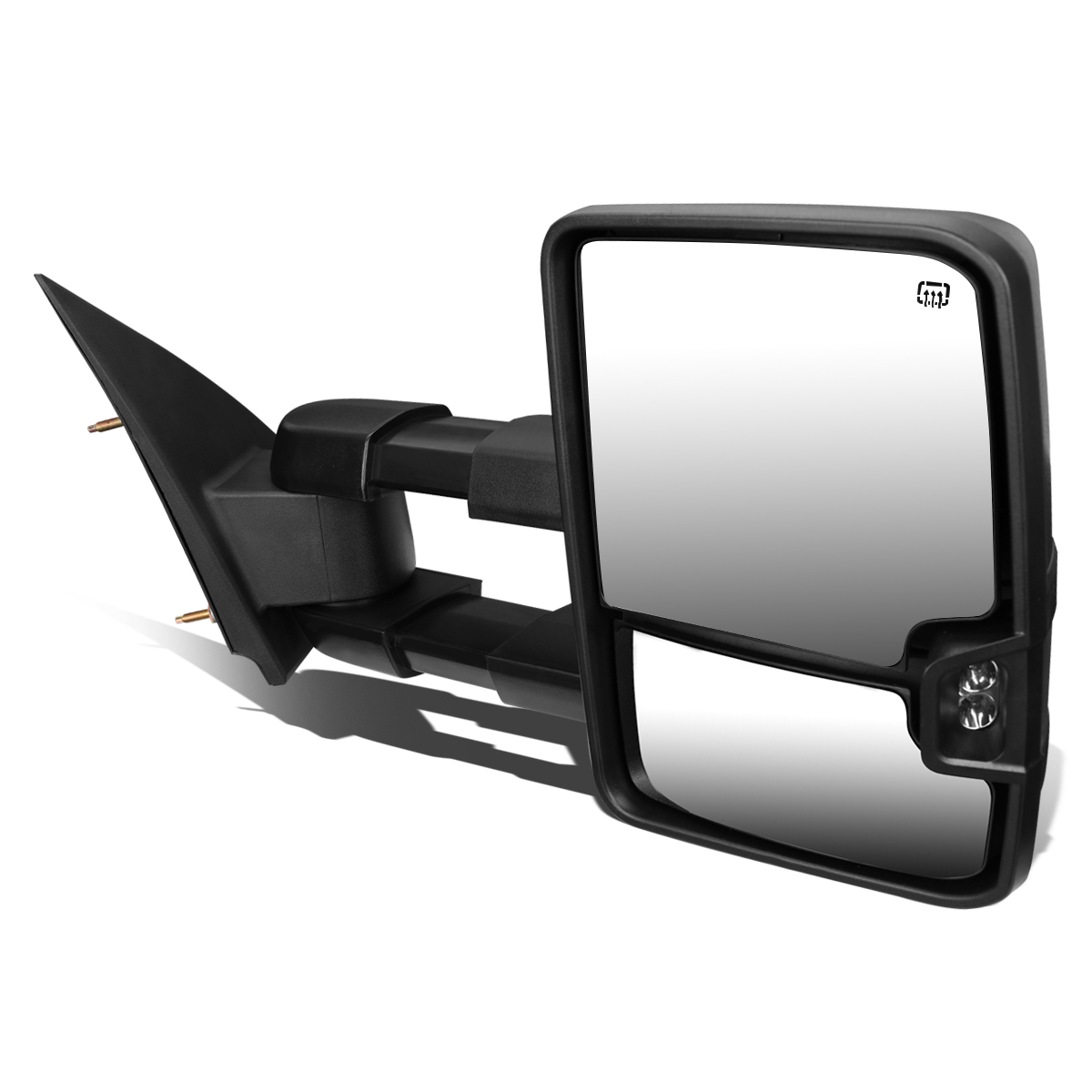 For 2014-2017 Chevy Silverado/GMC Sierra Powered+Heated+Smoked LED Turn Signal Towing Mirror (Right/Passenger)