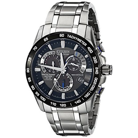 Citizen Men's EcoDrive Titanium Perpetual Chrono Atomic Timekeeping Watch with Date, AT401050E